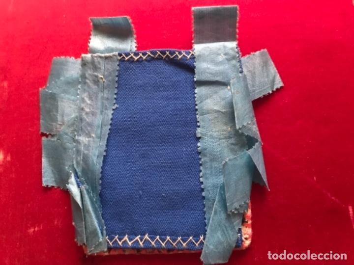 Antigüedades: Escapulario de Santa Rosa de Lima.. Bordado en hilos de seda. S.XIX - Foto 2 - 140594882