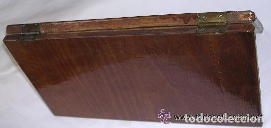 Antigüedades: TABLERO DE VIAJE PARA AJEDREZ O DAMAS - MADERAS NOBLES - MUY ANTIGUO - PRINCIPIOS SIGLO XX - Foto 14 - 173994467