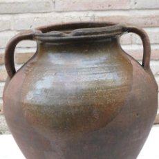 Antigüedades: ORZA GRANDE ANTIGUA DE DOS ASAS -VIDRIADA EN EL INTERIOR.. Lote 140597430