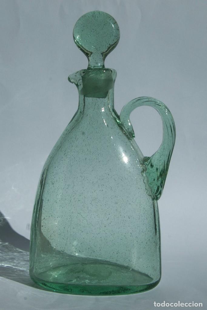 V257.- JARRA EN CRISTRAL SOPLADO.- INGLESA.- SIGLO XIX (Antigüedades - Cristal y Vidrio - Inglés)