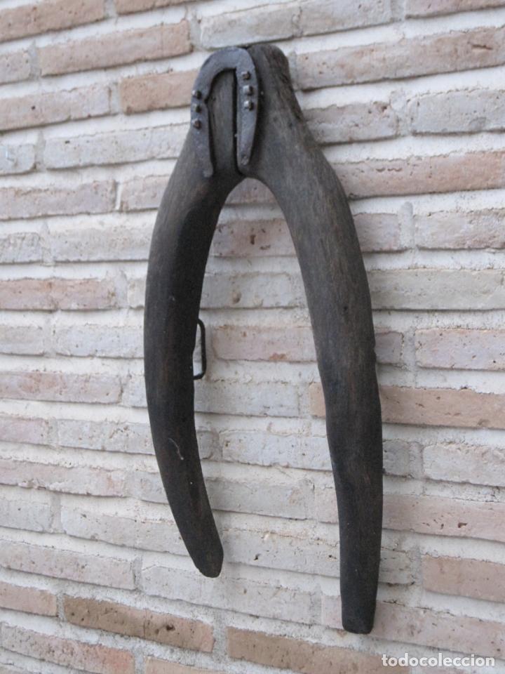 Antigüedades: HORCATE GRANDE ANTIGUO EN MADERA DE ENCINA - ETNOGRAFIA - - Foto 3 - 140609842