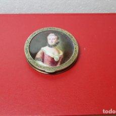 Antigüedades: POLVERA ESMALTADA SOBRE PLATA SOBREDORADA RUSA. Lote 159262714