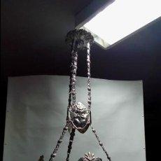 Antigüedades: LAMPARA DE TECHO 4 LUCES-. Lote 140615606