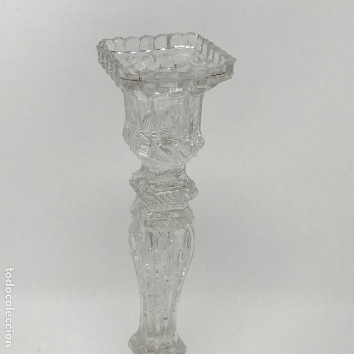 Antigüedades: Candelabro de cristal Huertano Santa Lucía-SXIX - Foto 4 - 140618530