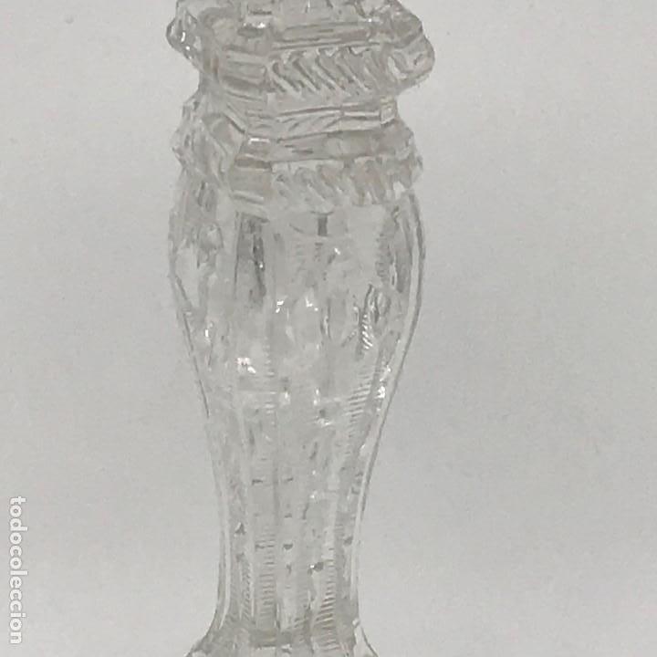 Antigüedades: Candelabro de cristal Huertano Santa Lucía-SXIX - Foto 8 - 140618530