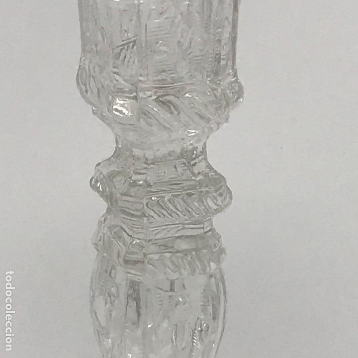 Antigüedades: Candelabro de cristal Huertano Santa Lucía-SXIX - Foto 9 - 140618530