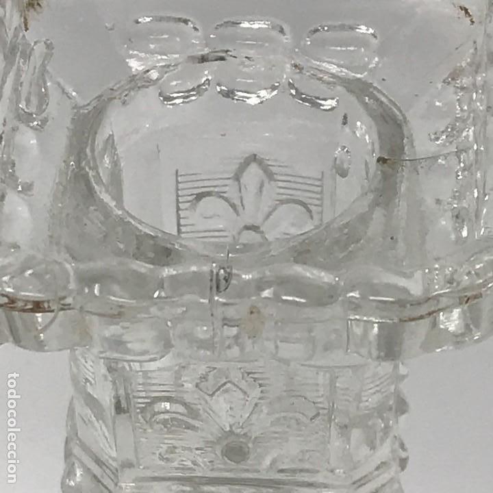 Antigüedades: Candelabro de cristal Huertano Santa Lucía-SXIX - Foto 11 - 140618530