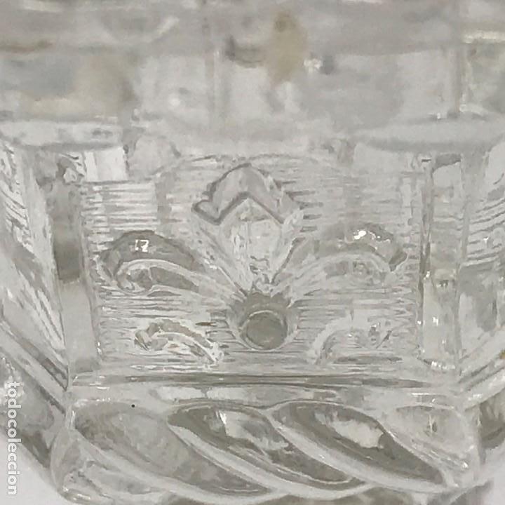 Antigüedades: Candelabro de cristal Huertano Santa Lucía-SXIX - Foto 12 - 140618530