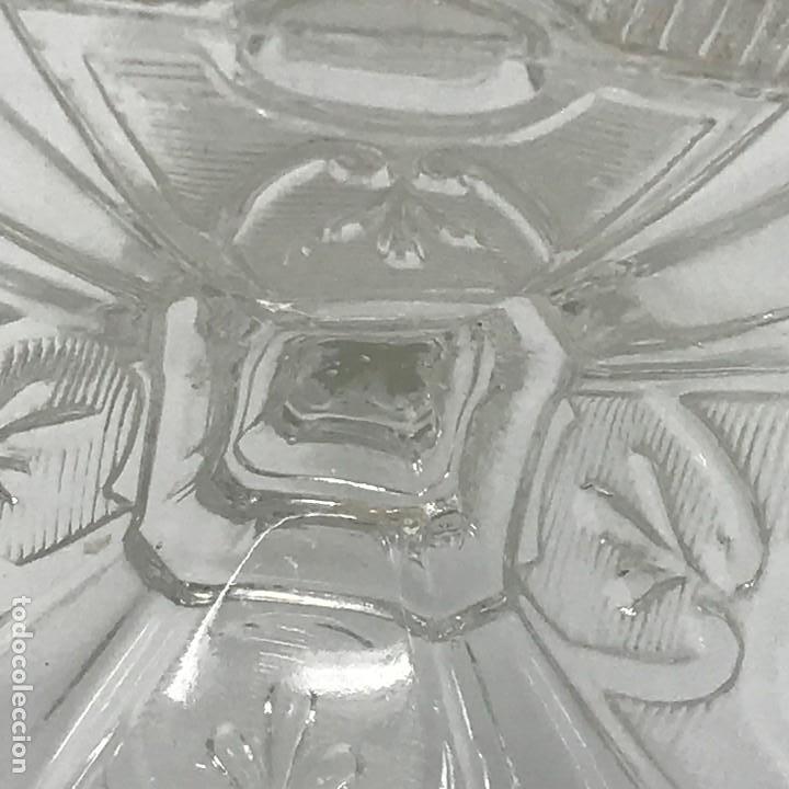 Antigüedades: Candelabro de cristal Huertano Santa Lucía-SXIX - Foto 16 - 140618530