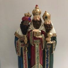 Antigüedades: ESPECTACULAR FIGURA DE LOS REYES MAGOS. Lote 140619545