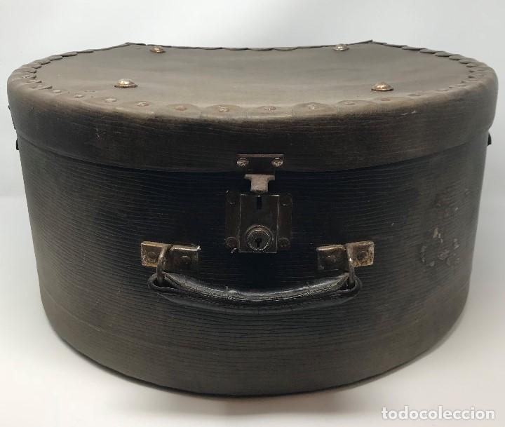 SOMBRERERA DE VIAJE ANTIGUO (Antigüedades - Moda - Sombreros Antiguos)