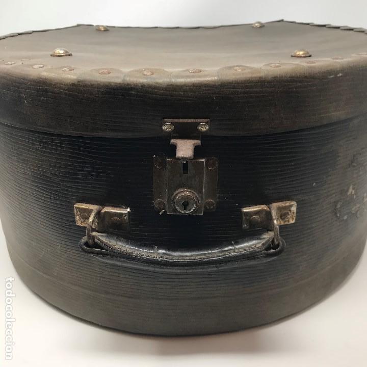 Antigüedades: Sombrerera de viaje antiguo - Foto 2 - 140623914