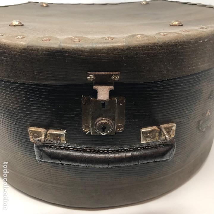 Antigüedades: Sombrerera de viaje antiguo - Foto 3 - 140623914