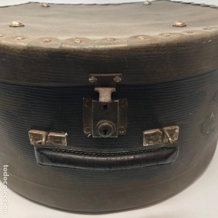 Antigüedades: Sombrerera de viaje antiguo - Foto 4 - 140623914