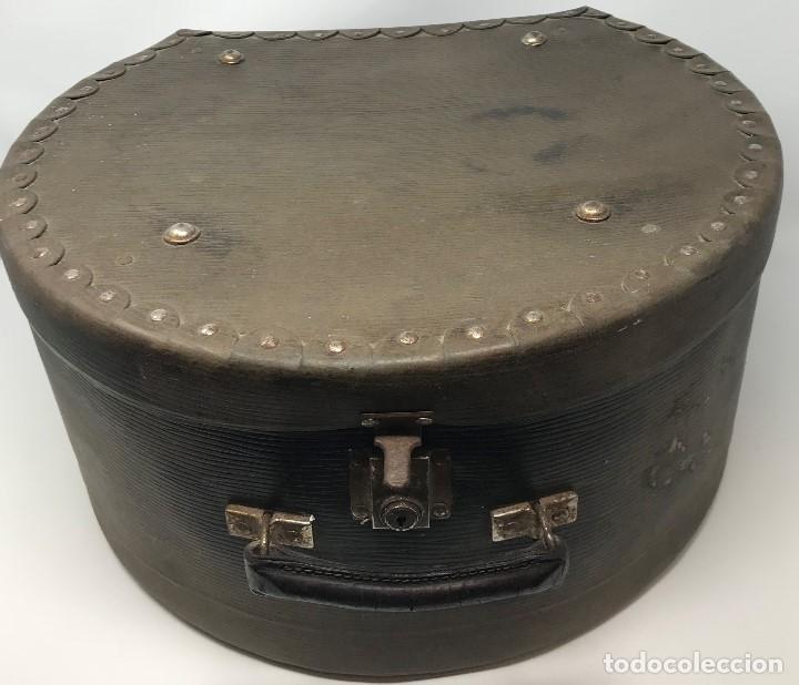 Antigüedades: Sombrerera de viaje antiguo - Foto 5 - 140623914
