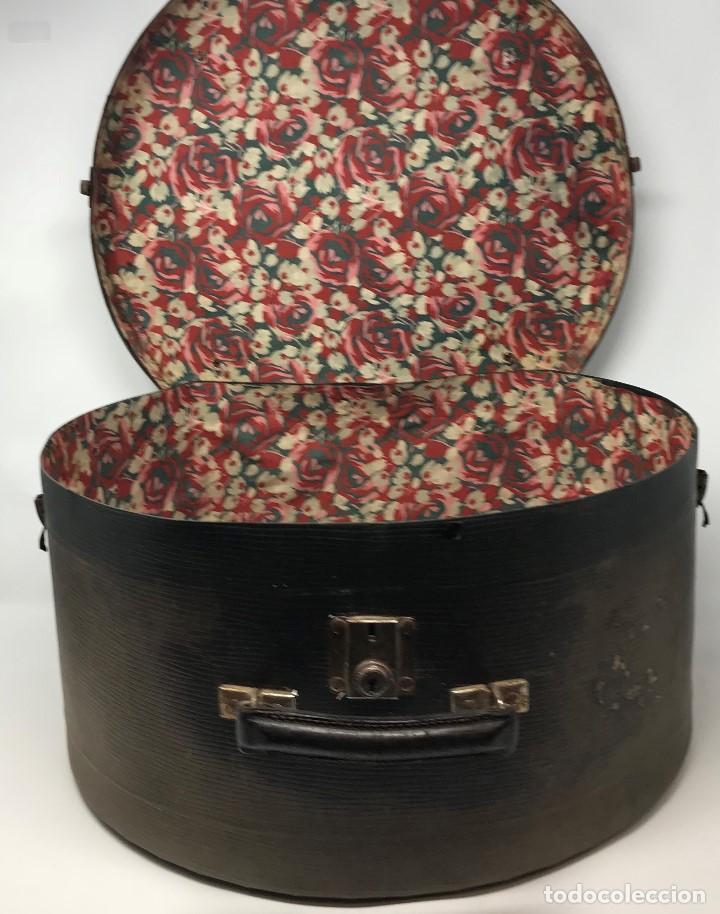 Antigüedades: Sombrerera de viaje antiguo - Foto 6 - 140623914
