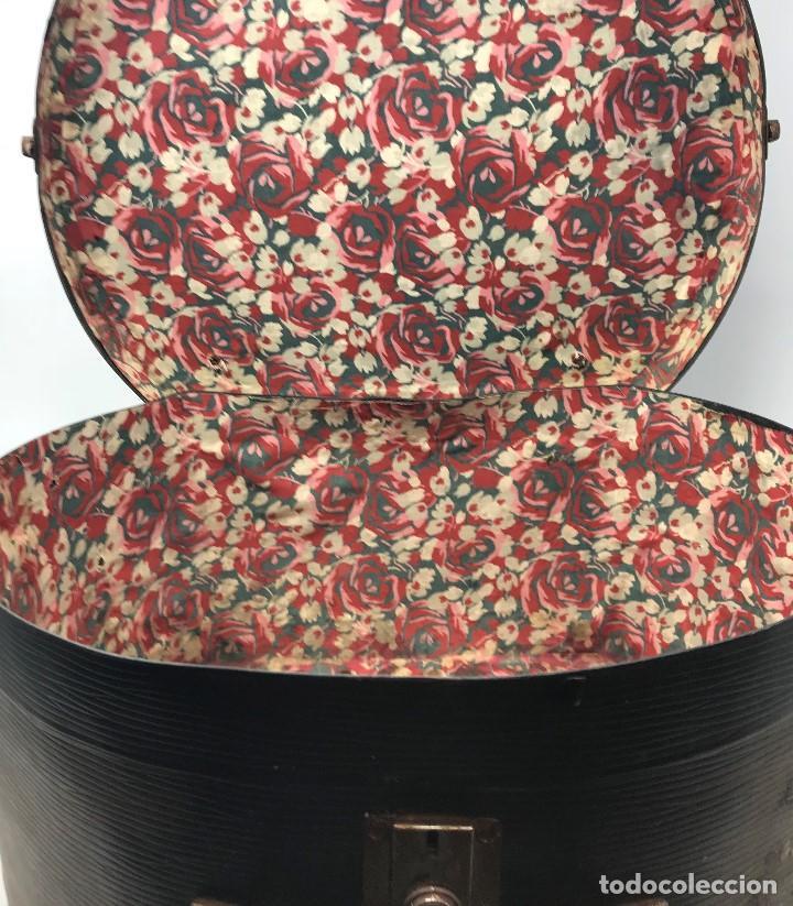 Antigüedades: Sombrerera de viaje antiguo - Foto 7 - 140623914