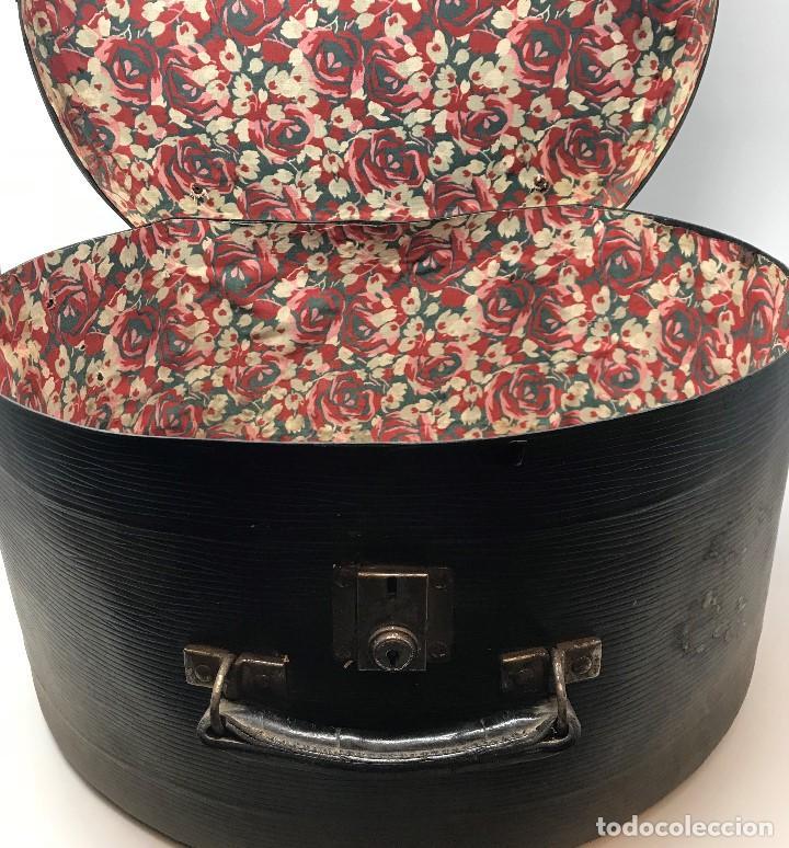 Antigüedades: Sombrerera de viaje antiguo - Foto 8 - 140623914