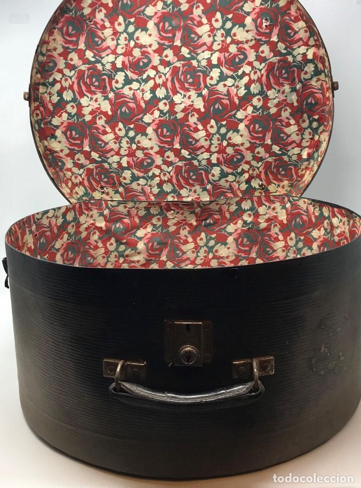 Antigüedades: Sombrerera de viaje antiguo - Foto 9 - 140623914