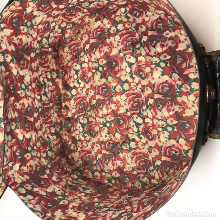 Antigüedades: Sombrerera de viaje antiguo - Foto 10 - 140623914
