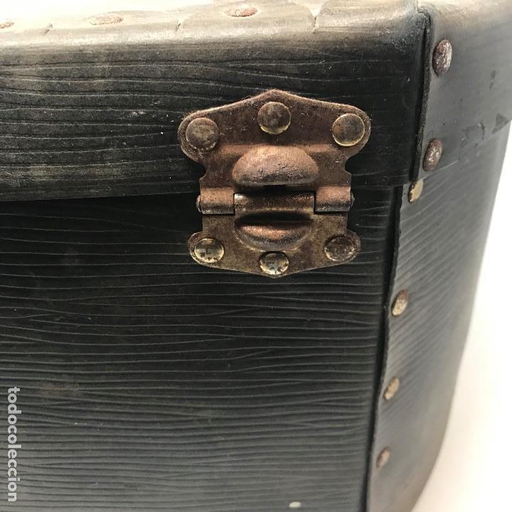 Antigüedades: Sombrerera de viaje antiguo - Foto 20 - 140623914