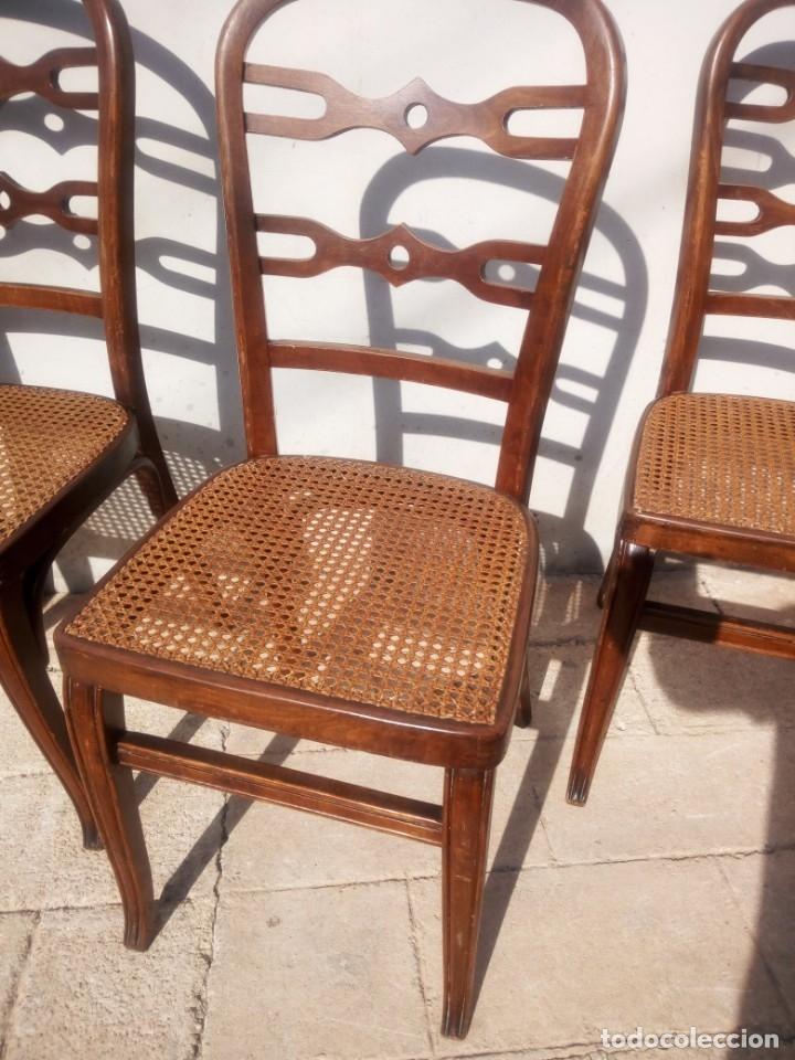Antigüedades: Juego de 4 sillas. - Foto 2 - 140624882