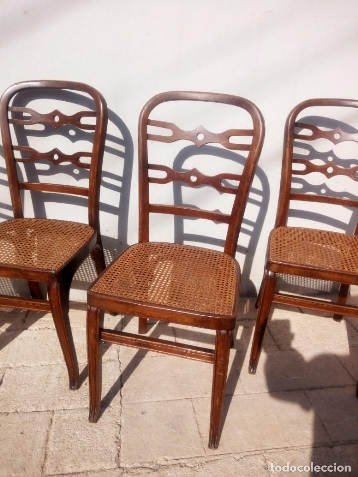 Antigüedades: Juego de 4 sillas. - Foto 3 - 140624882