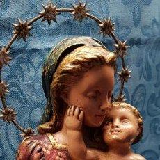 Antigüedades: BUSTO DE VIRGEN CON NIÑO EN BRAZOS. Lote 140632670