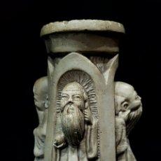 Antigüedades: PORTAVELAS MONJES. Lote 140655258