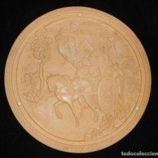 Antigüedades: TAPA DE ANTIGUA MESA DE RESINA CON ESCENA COSTUMBRISTA ASIÁTICA. Lote 140662506