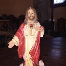 Antigüedades: ANTIGUO PEQUEÑO SAGRADO CORAZÓN DE JESÚS DE OLOT AÑOS 30-40 . Lote 140662870