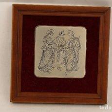 Antigüedades: BIENAVENTURANZA DE MARIA EN SU MATRIMONIO CON JOSÉ EN PLATA DE LEY 925MILESIMAS. Lote 151937364