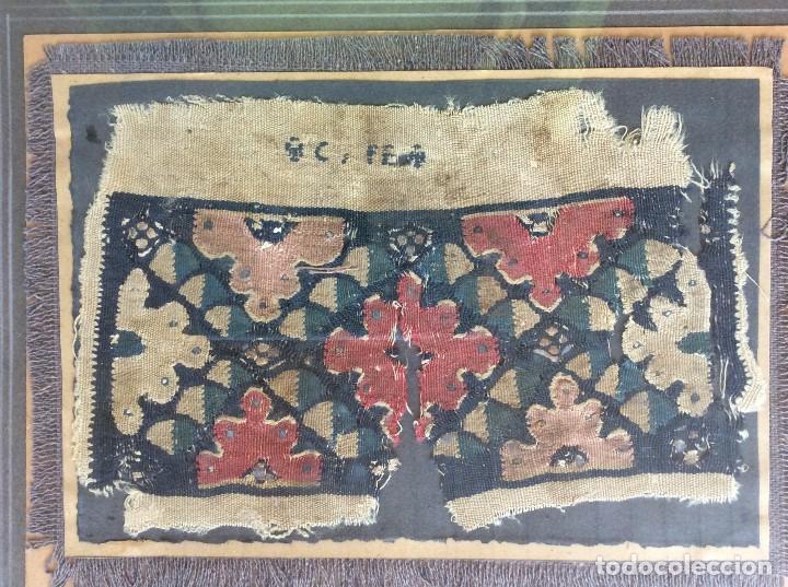 FRAGMENTO DE TELA COPTA (Antigüedades - Hogar y Decoración - Tapices Antiguos)