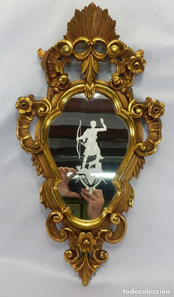 Antigüedades: Cornucopias sXVIII - Pan de oro y escenas grabadas al ácido. La Granja - Foto 2 - 140712866