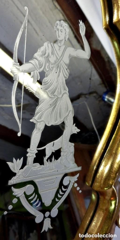 Antigüedades: Cornucopias sXVIII - Pan de oro y escenas grabadas al ácido. La Granja - Foto 6 - 140712866