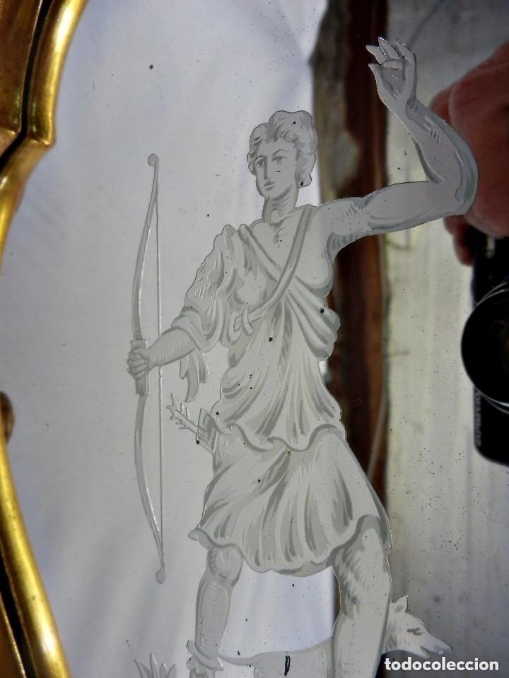 Antigüedades: Cornucopias sXVIII - Pan de oro y escenas grabadas al ácido. La Granja - Foto 11 - 140712866