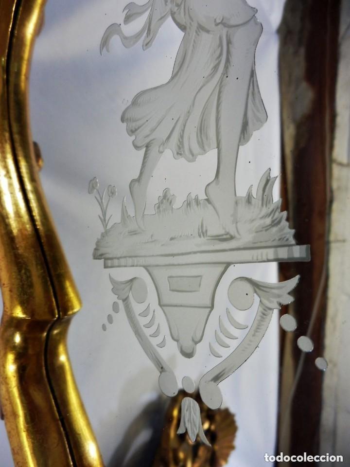 Antigüedades: Cornucopias sXVIII - Pan de oro y escenas grabadas al ácido. La Granja - Foto 12 - 140712866