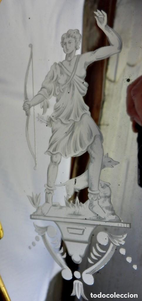 Antigüedades: Cornucopias sXVIII - Pan de oro y escenas grabadas al ácido. La Granja - Foto 23 - 140712866
