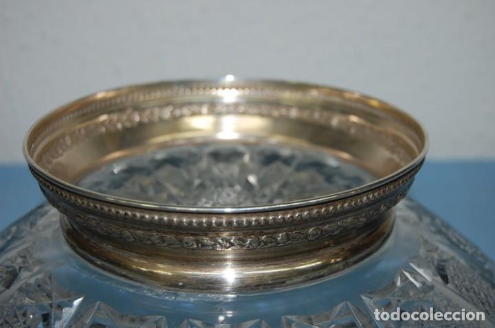 Antigüedades: CENTRO EN CRISTAL BHOEMIA CON PIE DE PLATA - Foto 6 - 140729102