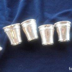 Antigüedades: 6 VASOS PEQUEÑOS DE PLATA. Lote 140746162