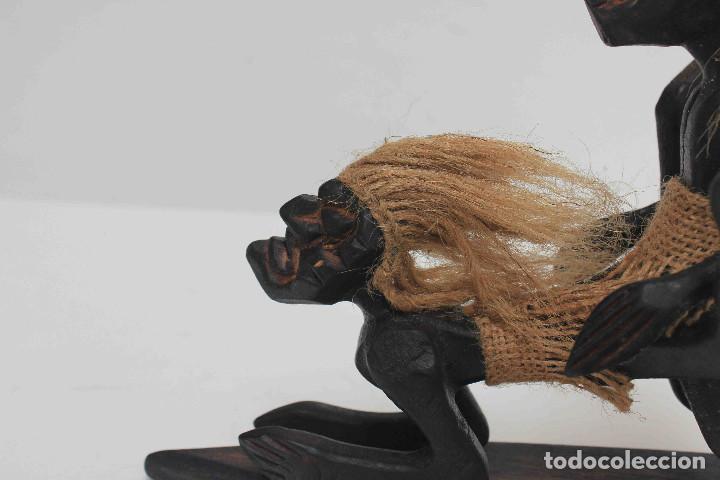 Antigüedades: FIGURA TALLA MADERA COITO - Foto 3 - 140749422