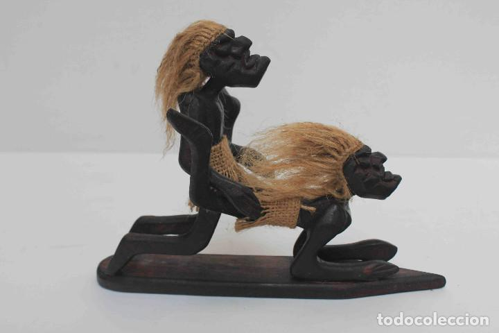 Antigüedades: FIGURA TALLA MADERA COITO - Foto 5 - 140749422