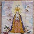 Antigüedades: ELCHE. VIRGEN DE LA ASUNCIÓN. IMAGEN DEL SIGLO XVIII EN UN CUADRO COMPUESTO POR 9 PIEZAS DE CERÁMICA. Lote 140754670