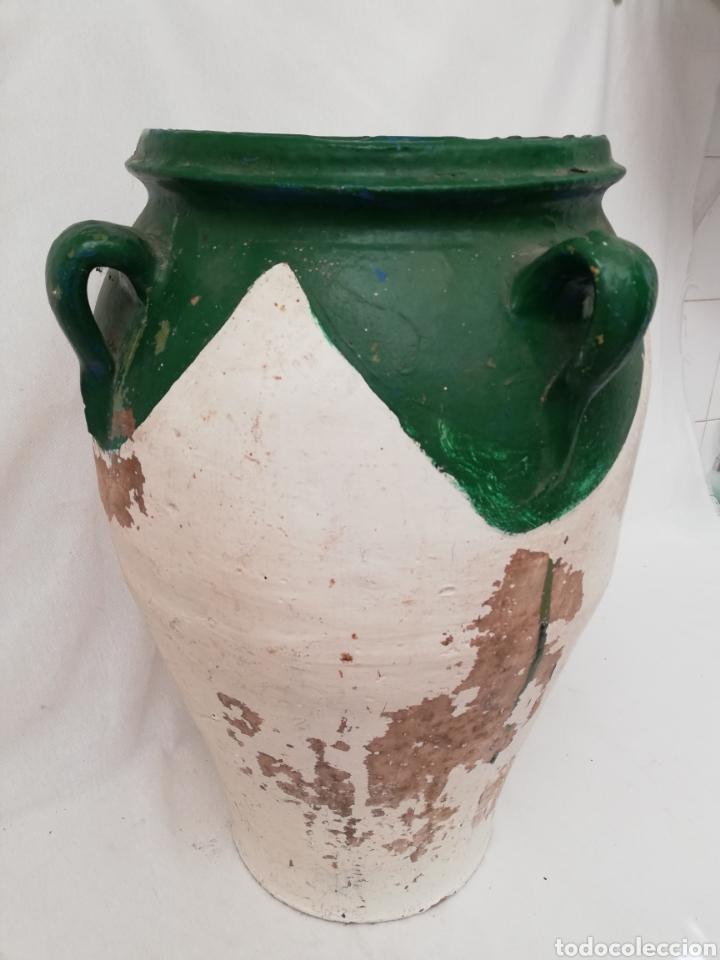 Antigüedades: ANTIGUA ORZA.TINAJA DE BARRO VIDRIADA CON CUATRO ASAS. ALTURA 57CM - Foto 4 - 140765930
