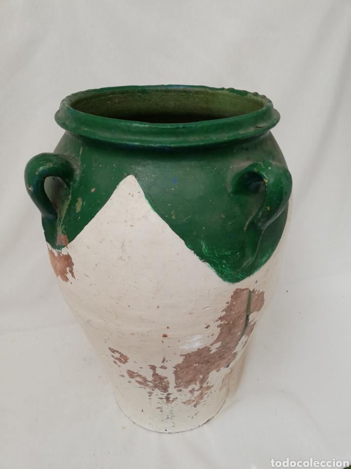 Antigüedades: ANTIGUA ORZA.TINAJA DE BARRO VIDRIADA CON CUATRO ASAS. ALTURA 57CM - Foto 6 - 140765930