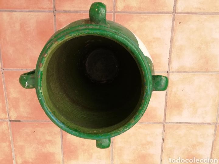 Antigüedades: ANTIGUA ORZA.TINAJA DE BARRO VIDRIADA CON CUATRO ASAS. ALTURA 57CM - Foto 14 - 140765930