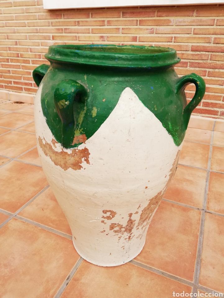 Antigüedades: ANTIGUA ORZA.TINAJA DE BARRO VIDRIADA CON CUATRO ASAS. ALTURA 57CM - Foto 15 - 140765930