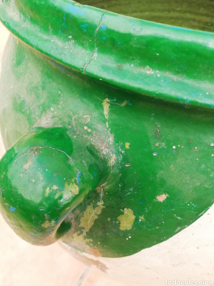 Antigüedades: ANTIGUA ORZA.TINAJA DE BARRO VIDRIADA CON CUATRO ASAS. ALTURA 57CM - Foto 16 - 140765930