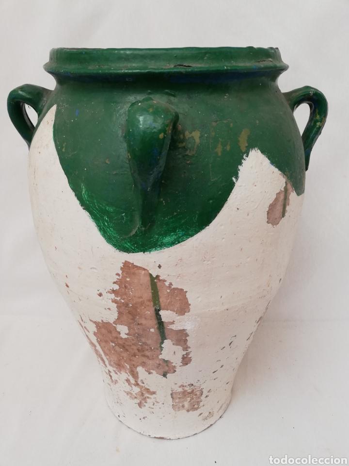 Antigüedades: ANTIGUA ORZA.TINAJA DE BARRO VIDRIADA CON CUATRO ASAS. ALTURA 57CM - Foto 2 - 140765930