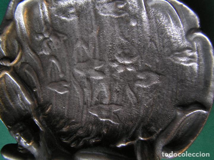 Antiquitäten: Espectacular despojador de bronce modernista.Puro estilo ART-NOUVEAU.Erótico. 1900. Peltre. - Foto 7 - 140771690